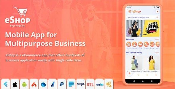 eShop - Flutter E-commerce Full App v2.0.5 Nulled