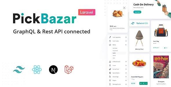 Pickbazar Laravel - React, Next, REST & GraphQL Ecommerce With Multivendor v2.1.0 Nulled