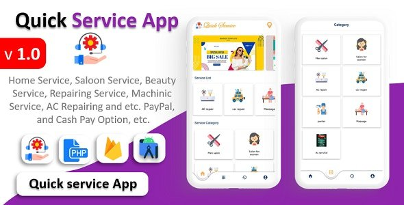 Quick Service App v1.0 Nulled