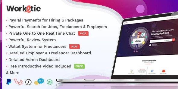 Worketic - Marketplace for Freelancers v2.9 Nulled