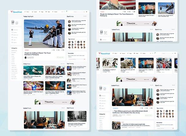 Newsviral - Modern News & Magazine HTML Template Nulled