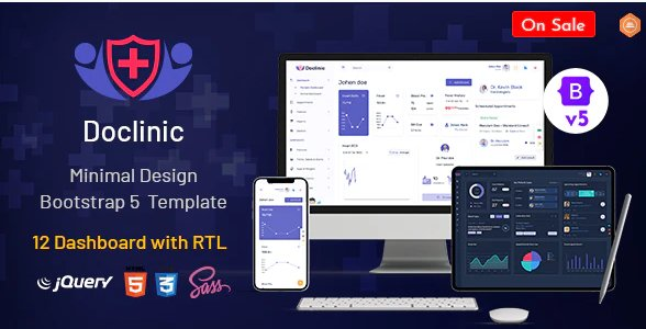 Medical Responsive Bootstrap Admin Dashboard HTML Nulled