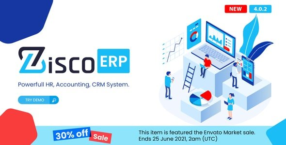ZiscoERP - Powerful HR, Accounting, CRM System v4.0.2 Nulled