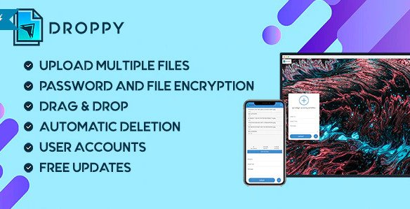 Droppy - Online file transfer and sharing v2.3.7 Nulled