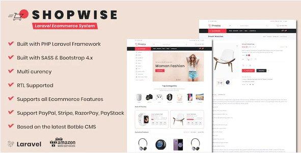 Shopwise - Laravel Ecommerce System v1.12 Nulled