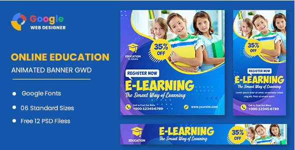 Education Online HTML5 Banner Ads GWD Nulled