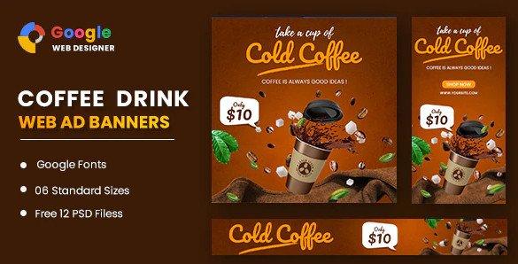 Coffee Google Adwords Banner Google Web Designer Nulled