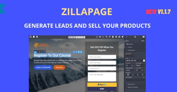 Zillapage - Landing page and Ecommerce builder v1.1.7