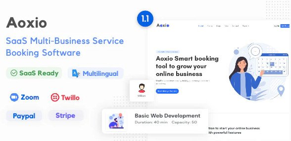 Aoxio - SaaS Multi-Business Service Booking Software v1.1