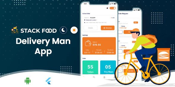 StackFood Multi Restaurant - Food Ordering Delivery Man App V2.1 Nulled
