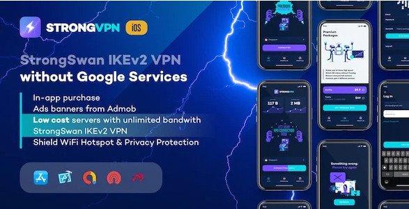 StrongVPN - StrongSwan IKEv2 VPN stable & free VPN proxy for iOS v1.1.0 Nulled
