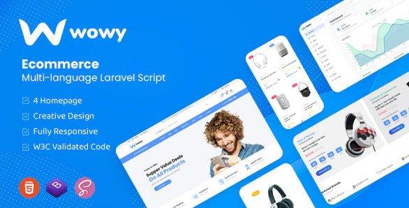 Wowy - Multi-language Laravel eCommerce Script v1.2 Nulled