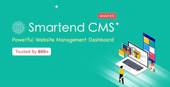 SmartEnd CMS - Laravel Admin Dashboard with Frontend and Restful API v8.5.0 Nulled