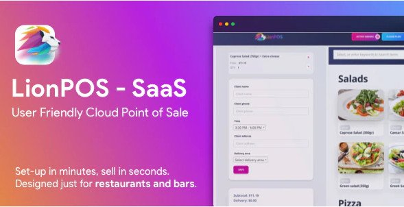 Lion POS - SaaS Point Of Sale Script for Restaurants and Bars with floor plan v1.0